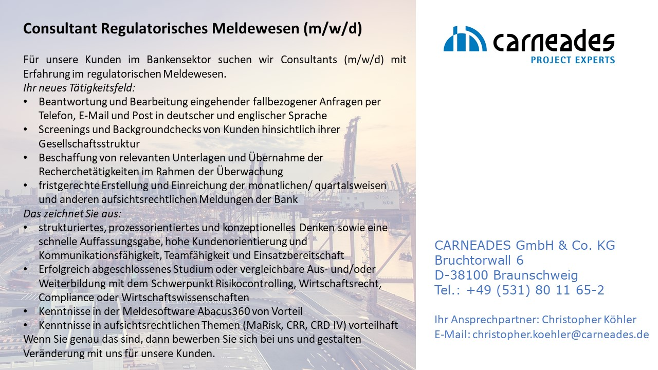Consultant_Regulatorisches_Meldewesen